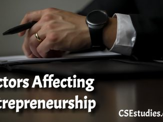 Factores Affecting Entrepreneurship