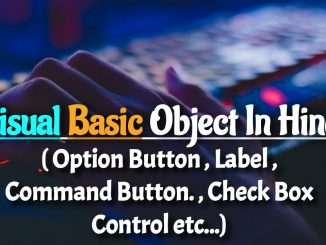 Visual Basic Object In hindi