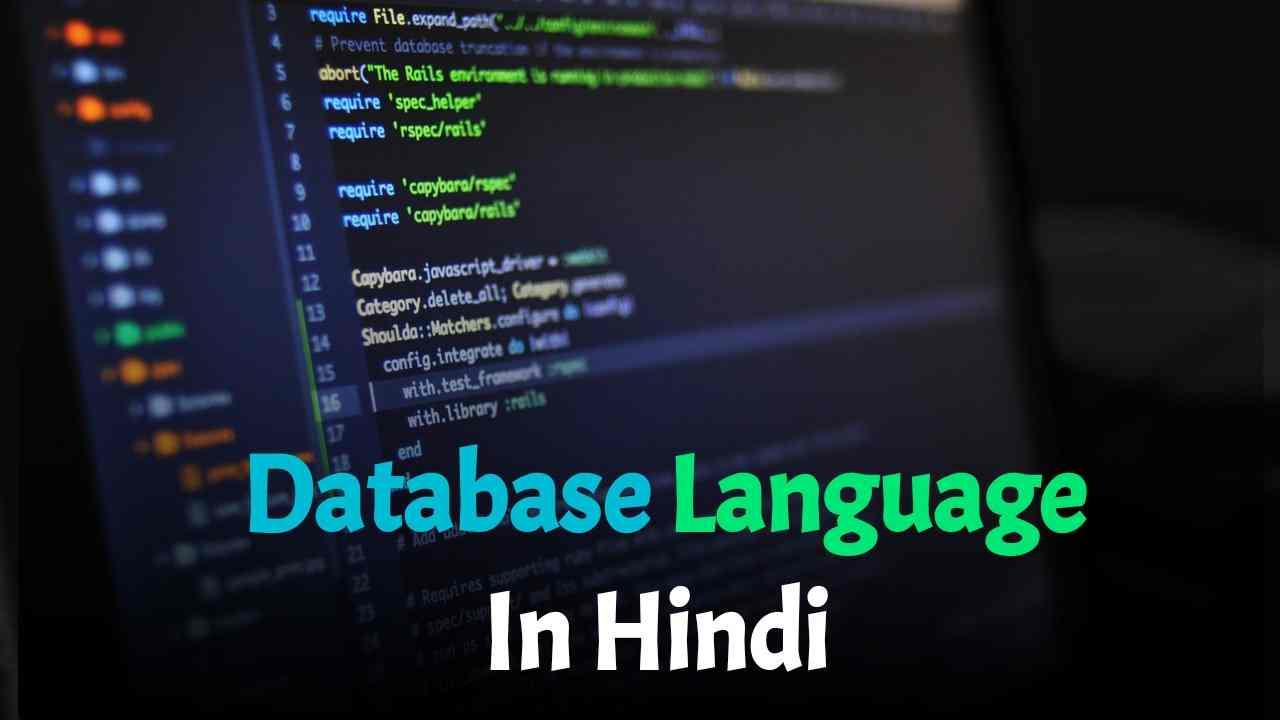 Database Language In Hindi