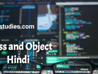 Class And Object In C In Hindi