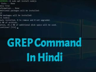 GREP Command In Linux In Hindi